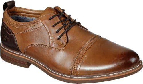 Skechers Bregman Selone Lace Mens Shoes Tan